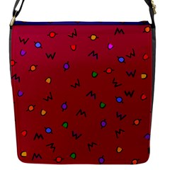 Red Abstract A Colorful Modern Illustration Flap Messenger Bag (S)