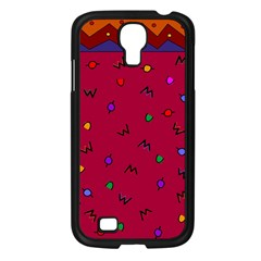 Red Abstract A Colorful Modern Illustration Samsung Galaxy S4 I9500/ I9505 Case (Black)