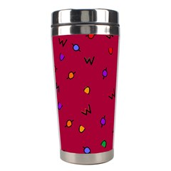 Red Abstract A Colorful Modern Illustration Stainless Steel Travel Tumblers