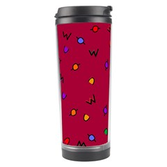 Red Abstract A Colorful Modern Illustration Travel Tumbler