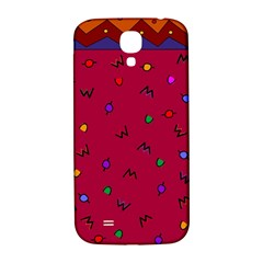 Red Abstract A Colorful Modern Illustration Samsung Galaxy S4 I9500/I9505  Hardshell Back Case