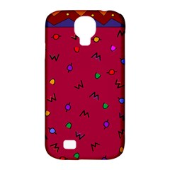 Red Abstract A Colorful Modern Illustration Samsung Galaxy S4 Classic Hardshell Case (PC+Silicone)