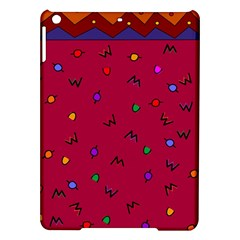 Red Abstract A Colorful Modern Illustration iPad Air Hardshell Cases
