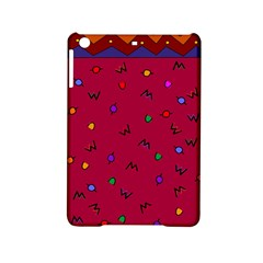 Red Abstract A Colorful Modern Illustration iPad Mini 2 Hardshell Cases