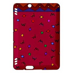 Red Abstract A Colorful Modern Illustration Kindle Fire HDX Hardshell Case