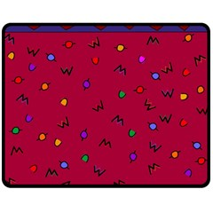 Red Abstract A Colorful Modern Illustration Double Sided Fleece Blanket (Medium)