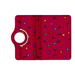 Red Abstract A Colorful Modern Illustration Kindle Fire HD (2013) Flip 360 Case