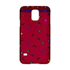 Red Abstract A Colorful Modern Illustration Samsung Galaxy S5 Hardshell Case
