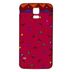 Red Abstract A Colorful Modern Illustration Samsung Galaxy S5 Back Case (White)
