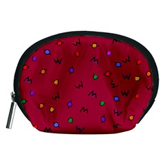 Red Abstract A Colorful Modern Illustration Accessory Pouches (Medium)