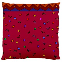 Red Abstract A Colorful Modern Illustration Large Flano Cushion Case (two Sides)