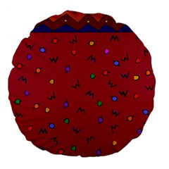 Red Abstract A Colorful Modern Illustration Large 18  Premium Flano Round Cushions