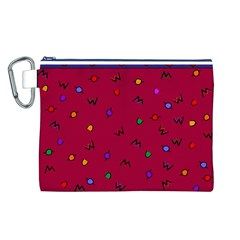 Red Abstract A Colorful Modern Illustration Canvas Cosmetic Bag (l)