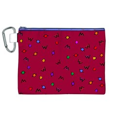 Red Abstract A Colorful Modern Illustration Canvas Cosmetic Bag (xl)