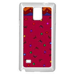 Red Abstract A Colorful Modern Illustration Samsung Galaxy Note 4 Case (White)