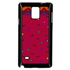 Red Abstract A Colorful Modern Illustration Samsung Galaxy Note 4 Case (black)
