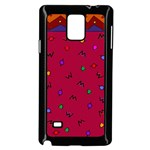 Red Abstract A Colorful Modern Illustration Samsung Galaxy Note 4 Case (Black) Front