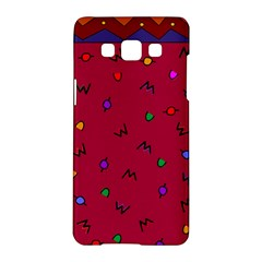 Red Abstract A Colorful Modern Illustration Samsung Galaxy A5 Hardshell Case