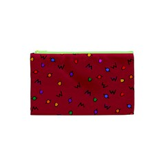 Red Abstract A Colorful Modern Illustration Cosmetic Bag (XS)