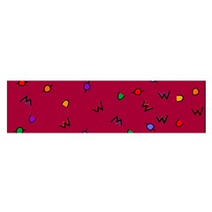 Red Abstract A Colorful Modern Illustration Satin Scarf (Oblong)