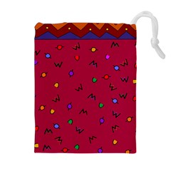 Red Abstract A Colorful Modern Illustration Drawstring Pouches (extra Large)