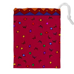 Red Abstract A Colorful Modern Illustration Drawstring Pouches (xxl)