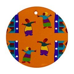 A Colorful Modern Illustration For Lovers Ornament (Round)