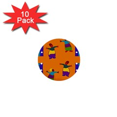 A Colorful Modern Illustration For Lovers 1  Mini Buttons (10 pack)