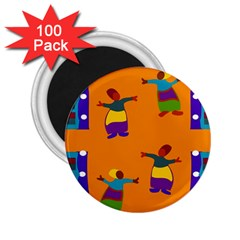 A Colorful Modern Illustration For Lovers 2.25  Magnets (100 pack)