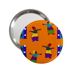 A Colorful Modern Illustration For Lovers 2 25  Handbag Mirrors