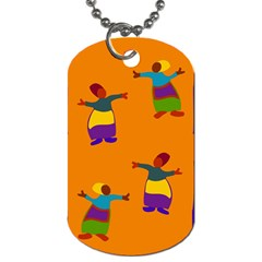 A Colorful Modern Illustration For Lovers Dog Tag (two Sides)