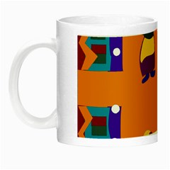 A Colorful Modern Illustration For Lovers Night Luminous Mugs