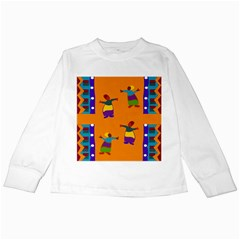 A Colorful Modern Illustration For Lovers Kids Long Sleeve T-Shirts