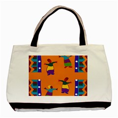 A Colorful Modern Illustration For Lovers Basic Tote Bag