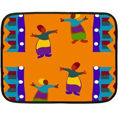 A Colorful Modern Illustration For Lovers Double Sided Fleece Blanket (Mini)