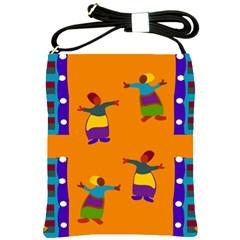 A Colorful Modern Illustration For Lovers Shoulder Sling Bags