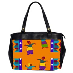 A Colorful Modern Illustration For Lovers Office Handbags (2 Sides)