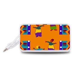 A Colorful Modern Illustration For Lovers Portable Speaker (White)
