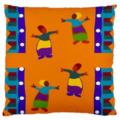 A Colorful Modern Illustration For Lovers Large Cushion Case (Two Sides)