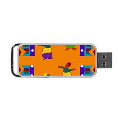 A Colorful Modern Illustration For Lovers Portable Usb Flash (one Side)