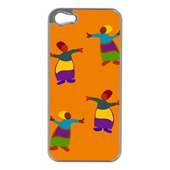 A Colorful Modern Illustration For Lovers Apple iPhone 5 Case (Silver)