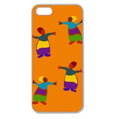 A Colorful Modern Illustration For Lovers Apple Seamless iPhone 5 Case (Clear)