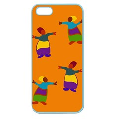 A Colorful Modern Illustration For Lovers Apple Seamless iPhone 5 Case (Color)