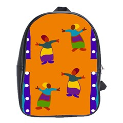 A Colorful Modern Illustration For Lovers School Bags (XL)