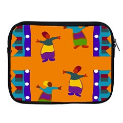 A Colorful Modern Illustration For Lovers Apple iPad 2/3/4 Zipper Cases