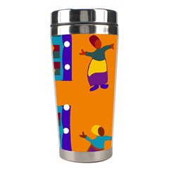 A Colorful Modern Illustration For Lovers Stainless Steel Travel Tumblers