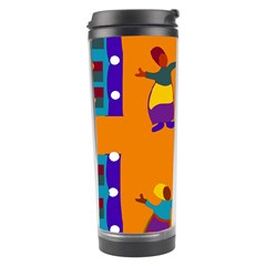 A Colorful Modern Illustration For Lovers Travel Tumbler