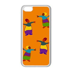 A Colorful Modern Illustration For Lovers Apple Iphone 5c Seamless Case (white)