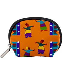 A Colorful Modern Illustration For Lovers Accessory Pouches (Small)