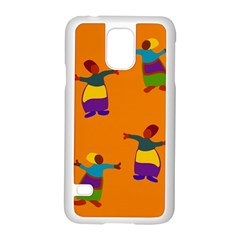 A Colorful Modern Illustration For Lovers Samsung Galaxy S5 Case (White)